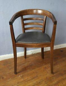 Bauhaus Gropius Art Deco Stil Armlehnstuhl Schreibtisch Stuhl Sessel Armchair