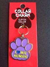I Love My Human Pet Collar Charm