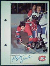 REJEAN HOULE  MONTREAL CANADIENS  71/72 TORONTO SUN 5-1/4 X 7 PHOTO CARD