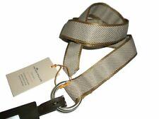 Peter Millar men's Needle Stripe O-Ring Cork tan Belt size XL retail $75