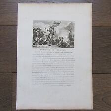 GRAVURE 1830 M.F.T. STETTENHOFFEN NÉ A VIENNE EN 1740 GENERAL DE DIVISION