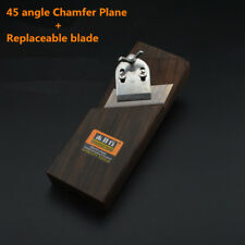 45 angle Chamfer plane + blade Woodwork plane Wiping angle Trimming planes  W177