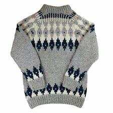 Vintage Wool Jumper Sweater Nordic Icelandic Aran Fair Isle Shetland Chunky Knit