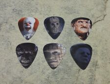 6 Horror Character  SINGLE SIDED PICTURE GUITAR PICKS