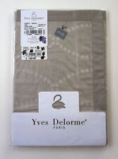 YVES DELORME Paris 2 Shams Gray Beige Points Cafecre Taie Sateen Pillow Case