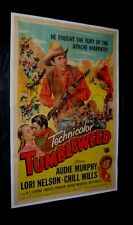 Original 1953 AUDIE MURPHY TUMBLEWEED Linen Backed O/S CHILL WILLS LORI NELSON