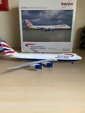1/200  British Airways Boeing B747-8F Herpa Wings555173