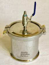 "6"" SS 304 Closed Loop Extractor Recovery Tank with vapor port only - 6"" x 6"""