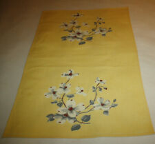 VINTAGE WILENDUR YELLOW DOGWOOD TOWEL OR TABLERUNNER ~ MATCHES TABLECLOTH