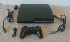 Sony PlayStation 3 PS3 Slim 120GB OFW 3.55 Black Console CECH-2003A