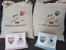 Unique Teacher Gift Tote Bag with FREE Personalised Thank You End of Term Card