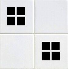 4 Square design  Kitchen / Bathroom Tile Sticker Set x36 stickers (BLACK)
