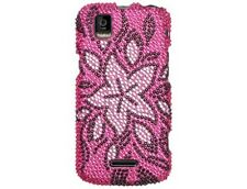 Tasteful Flowers Snap On Diamond Phone Case Cover Protector for Motorola XPRT