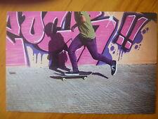 POSTCARD..ISAAC NEWTON..CURRICULUM CARD..SKATEBOARD RIDER & GRAFFITI..MOTION LAW