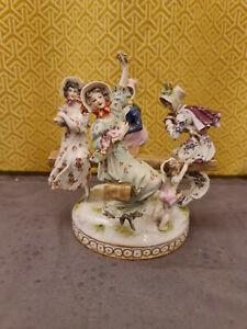 Antique German Dresden Volkstedt Rudolstadt Meissen Porcelain Group
