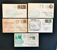 US Set of 10 1932-1957 Cachet Cover Collection Free Ship