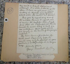 George Trumbull Ladd Signed Letter Autograph Psychologist Educator Content