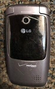 READ FIRST LG VX5400 Gray Verizon Flip Cellular Phone Fast Shipping Fair Used