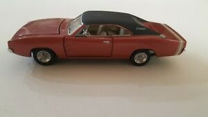 1968 Dodge Charger 1/43 Scale Diecast Model Car By Franklin Mint. PAPERWORK.