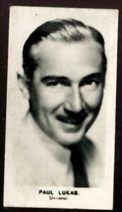 Tobacco Card, Walkers, FILM STARS, 1935, Paul Lukas