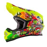 ONeal 3Series MX Helm Crank Neon Gelb Hi-Viz Moto Cross Enduro Motorrad 3SRS