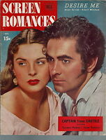 NL-046 - Screen Romances Nov 1947, Greer Garson Robert Mitchum Tyrone Power