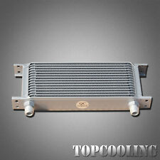 Universal 15 Row AN10 Engine Transmission Oil Cooler Aluminum Mocal Style