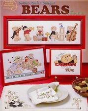 BEARS Cross Stitch Patterns Paperback Crafts Book NEW Teddy Panda Music -English
