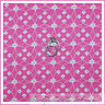 BonEful Fabric FQ VTG Cotton Quilt S Pink Green White Flower Swirl Girl Princess