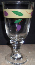 Decorative Clear Water Glass Stemmed  Goblet  Olive Green Purple Table Accessory