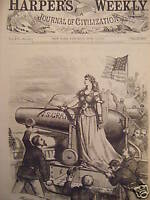 1872 Harper's Weekly June 15 Nast-Stand by Grant