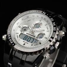 INFANTRY Herren Quarzuhr Digitaluhr Armbanduhr Uhr Herrenuhr Datum Alarm Outdoor