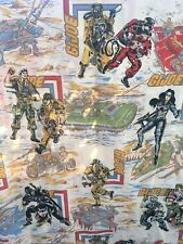 ✨ Vintage Gi Joe Twin Flat Bed Sheet 1985 Hasbro Excellent Condition ✨