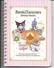 Sanrio Characters Spiral Notebook Fantasy Theatre Kuromi Kitty Cinnamoroll