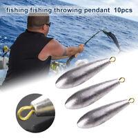 10 Pcs Fishing Sinkers Water Drop Shaped Lead Sinker 10g-50g Weights /