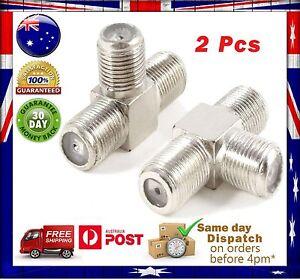 2 Pcs 3 Way F-Type Splitter/ Mixer/ Combiner/ Adapter Coax Joint for Sat -TV