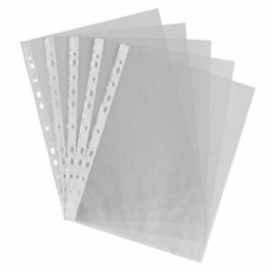 100pc A4 CLEAR PLASTIC SHEET PROTECTORS  FOLDER WALLETS SLEEVES VALUE 235x305MM
