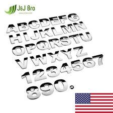 """J&J Broâ""""?Metal Chrome Car Sticker Letter Alphabet Number Emblem 45Mm Large Size"""