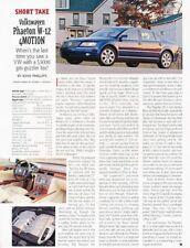 2004 VW Volkswagen Phaeton W12 Original Car Review Report Print Article J937