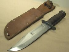 WWII~KABAR~U.S. MARINES CORP~FIGHTING KNIFE COMBAT WEAPON w/ORIGINAL SHEATH~