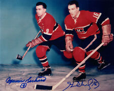 MAURICE & HENRI RICHARD DUAL SIGNED 8x10 PHOTO MONTREAL CANADIENS BECKETT BAS