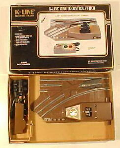 """K-Line K265 O 27"""" Left Hand Remote Control Switch Switch Turnout  LN/Box"""