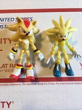 Sonic Hedgehog Jazwares Lot Super Shadow & Silver 3'' Inch Figure Toys R Us Rare