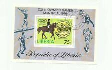 Liberia Scott# C211 Montreal Olympics - Equestrian Souvenir Sheet - CTO   stk#pI