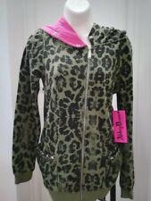 Felpa leopardata con grande cappuccio Abbey Dawn Avril Lavigne tg M