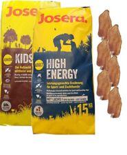 15kg Josera High Energy + 15kg Josera Emotion Kids + 6 x Kaninchenohren