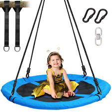 "40""Tree Swing 100cm Round Plate Swing Set Outdoor Toys 700lbs for Kids Bis 300kg"