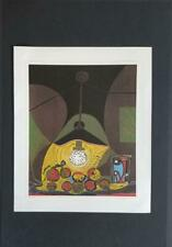 """Picasso """"Still Life Under The Lamp """" Mounted Lithograph  1973 Platesigned"""