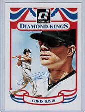 2014 Donruss Diamond King Box Toppers CHRIS DAVIS Autograph #23 (3123)