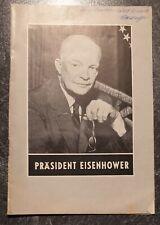 Broschüre Präsident Eisenhower, Wien 1954